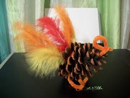 cats kids and crafts pine cone turkey