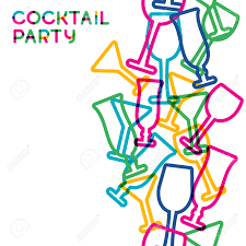 abstract colorful cocktail glass seamless background concept