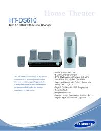 samsung home theater 5 1 download free pdf for samsung ht ds610 home theater manual