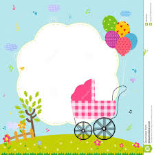 Naming Ceremony Invitation Card Baby Shower Card Stock Vector Image 43234640