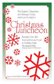 christmas lunch invitation christmas luncheon invitations beneconnoi