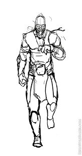 mortal kombat characters coloring pages coloring pages ideas