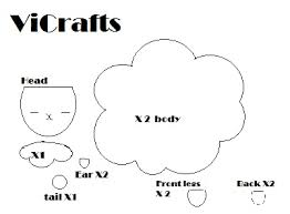 template for the sheep plushie vicrafts
