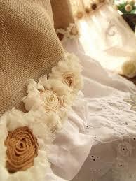 custom eyelet lace ruffles vintage hand crochet shabby rustic