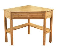 brown polished oak wood triangle coffee table with aquarium