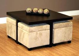 round coffee table with 4 stools marvelous coffee table with 4 ottomans coffee table with 4 stools