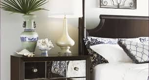 furniture gold mirrored nightstand glass and wood nightstands