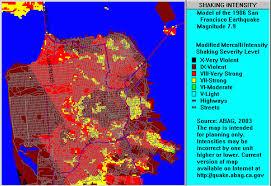 San Francisco On Map San Francisco Liquefaction Susceptibility Map My Blog