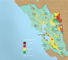 San Francisco Bay Map by San Fransico Bay Area Liquifaction Map Cse For Landscape Architects