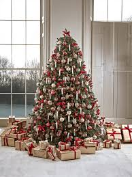 artificial pre lit christmas trees decorative luxury frosted