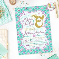 mermaid baby shower ideas mermaid baby shower invitations