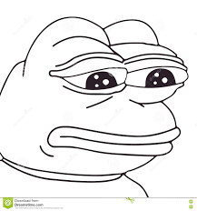 Frog Face Meme - vector frog meme face for any design isolated eps 10 stock