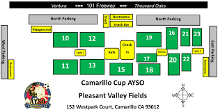 Camarillo Ca Map Cam Cup Field Map