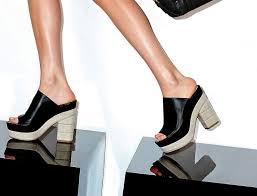 Mule Sandals Salvatore Ferragamo Maddox Linen Heeled Leather Mule Sandals
