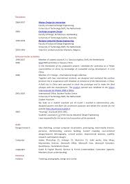 Resume For Interior Design Internship Resume User Researcher