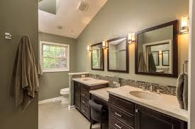 wall paint ideas for bathrooms gray wall paint mirror with wooden frame wall ls shelving bath