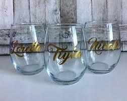 wine glass gifts custom wine glasses etsy