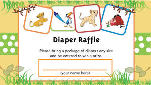 baby lion king baby shower lion king printable raffle ticket