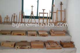 french easel box on aluminium alloy legs wooden sketch box easel
