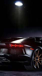 Lamborghini Aventador Galaxy - lamborghini aventador black rear view 1080x1920 wallpapersbyte