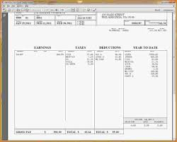 Excel Paystub Template 10 Best Blank Pay Stub Template Word Images On Words