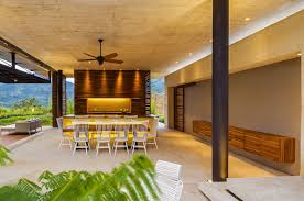 modern ceiling fans in contemporary style amaza design open kitchen and dining space with modern ceiling fans design decorated with tropical touch for home