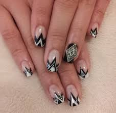 60 examples of black and white nail art art and design