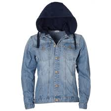 light blue denim jacket mens mens light blue washed effect jersey hood denim jacket