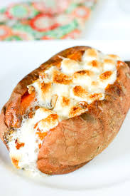 eclectic recipes baked sweet potatoes with marshmallow pecan topping
