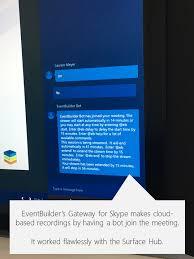 skype bureau windows 8 webinars microsoft surface hub observations from the owner team