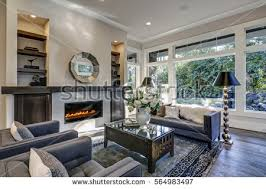 Living Room Built In Living Chic Living Room Filled Builtin Cabinets Stock Photo 564983497
