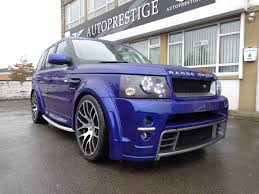 range rover sport blue 2005 range rover sport 2 7 ap customs stage 3 japha blue pearl