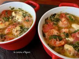 cuisiner des crevettes cassolettes de crevettes à l ail et feta la cuisine d agnèsla