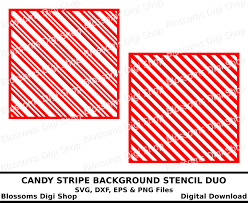 candy stripe background stencil duo digital download christmas