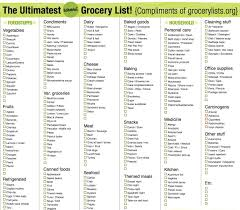 grocery list template shopping list template teller resume