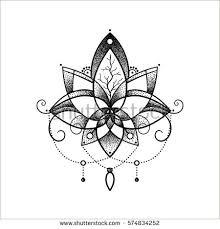 vector ornamental lotus flower ethnic stock vector 574834252
