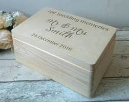 personalized keepsake boxes wedding memory box etsy