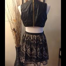 80 off forever 21 dresses u0026 skirts black leather cut out dress