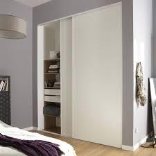 deco porte placard chambre lot de 2 portes de placard coulissante optimum l 210 x h 250 cm