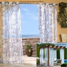 fresh outdoor patio curtain panels room design ideas unique and