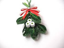 quilling mistletoe decoration winter paper