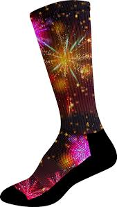 new years socks themed running socks competitor