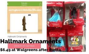 hallmark ornaments 6 49 at walgreens after ibotta saving toward