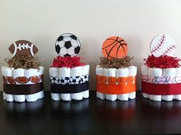 sports baby shower theme set of 4 mini sports cakes boy sports baby shower