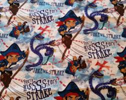 Jake And The Neverland Pirates Curtains Pirate Curtains Etsy