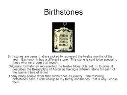 breastplate stones 12 tribes s birthstone gems a powerpoint presentation of minerals