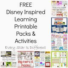 free disney inspired learning printable packs u0026 activities every