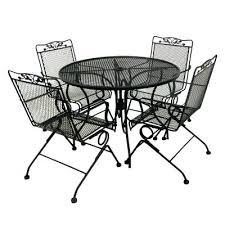 mesh wrought iron patio furniture lovely black wrought iron patio furniture for dining room sets