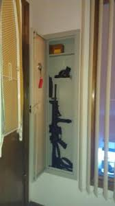 Gun Cabinets For Sale Walmart by Stack On Full Length In Wall Cabinet Beige Walmart Com