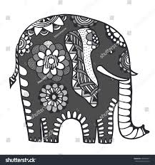 doodle indian indian elephant doodle indian stock vector 429869311